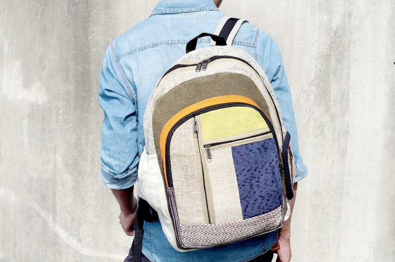 After a limited edition hand-stitching design backpack / shoulder bag / BOHO mountaineering pack - Blue Highway travel wind