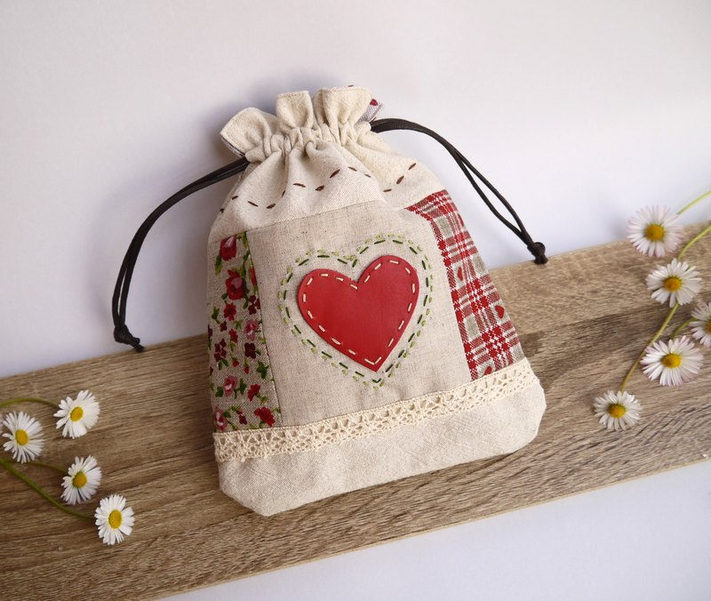 European style pastoral love embroidery bunch pocket elegant romantic preferred gift