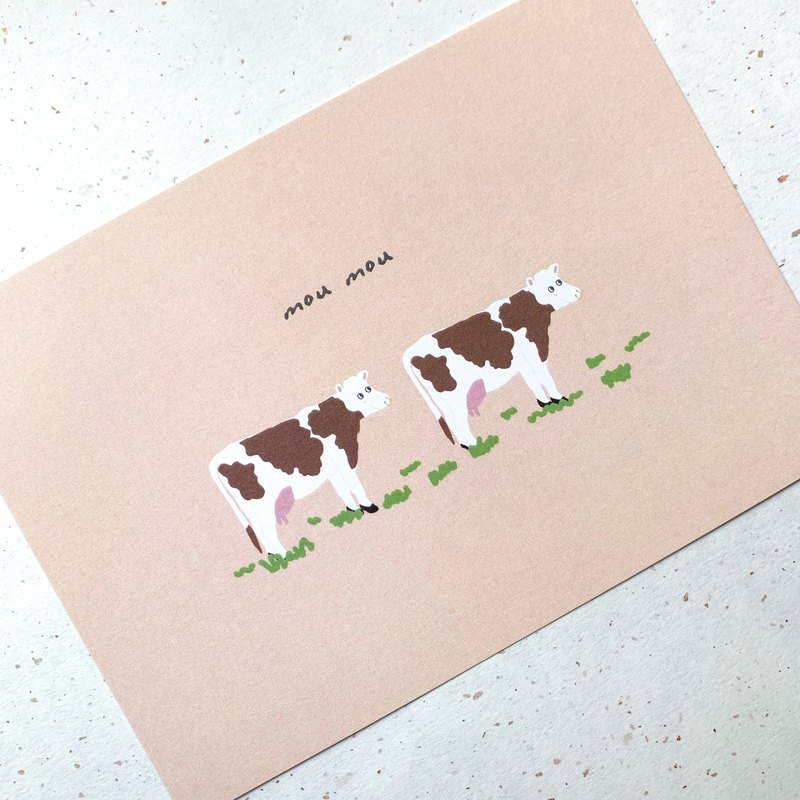 Postcard | cows on grass