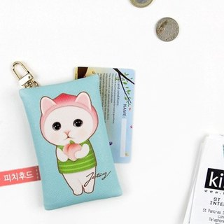 JETOY, Sweet Cat Convenient Wallet Keychain _Peach hood J1711102