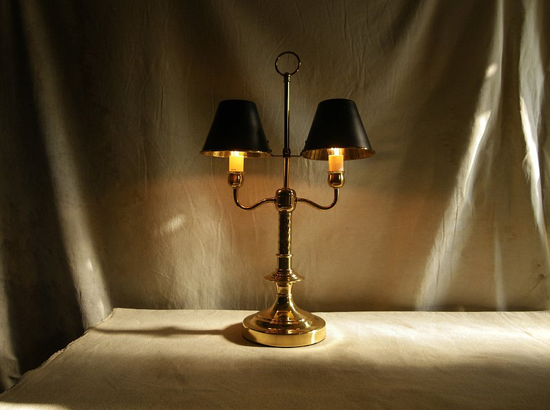 【OLD-TIME】Early Taiwan made copper table lamp (small)