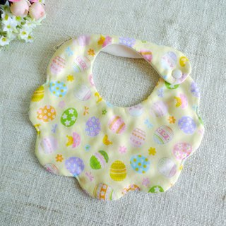 Cloud six-layer gauze bibs saliva towel - happy egg (yellow)