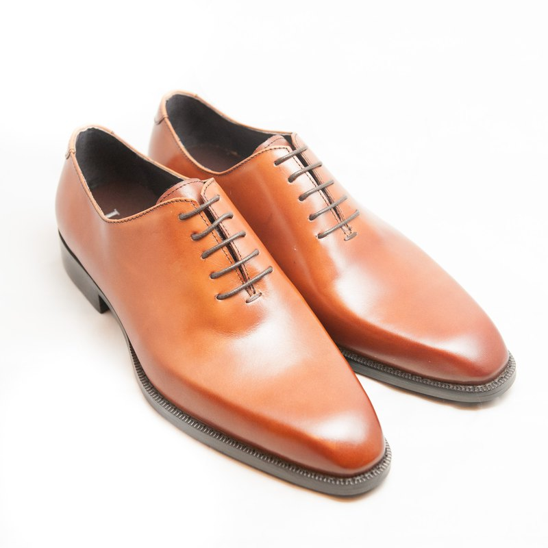 Hand-painted calfskin Whole Cut Oxford shoes leather shoes men's shoes - dry color - free shipping -E1A27-80