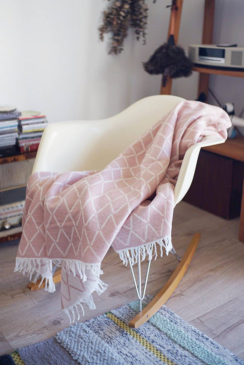 Eskimo wool blanket (rose powder)