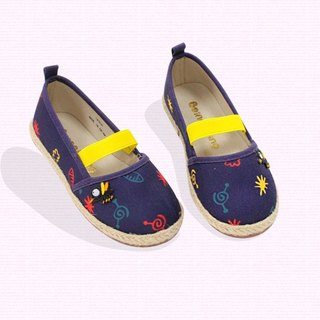 Ramie Cotton fabric Mary Janes shoes –  purple - The sound of the mosquito.