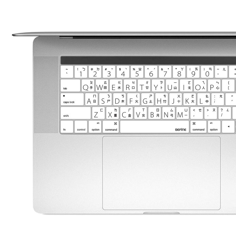 BF MacBook Pro 13/15 Chinese keyboard protective film - black on white background 8809305227493