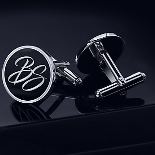 Initials Cufflinks - Personalized Cufflinks - Enamel Cufflinks for groom