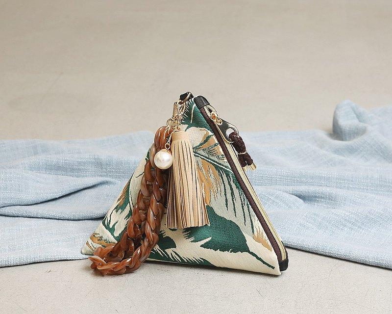 Moana triangular clutch pouch bag