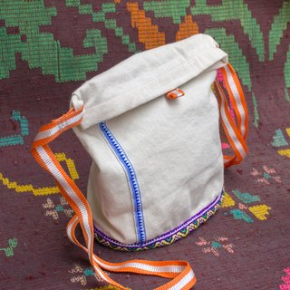 EARTH.er │● Natural Dyed Passport Travel Bag B│< Sustainable Natural Hemp Product >