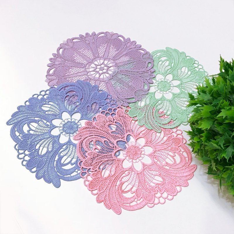 Baroque pastel coaster - 4 piece set