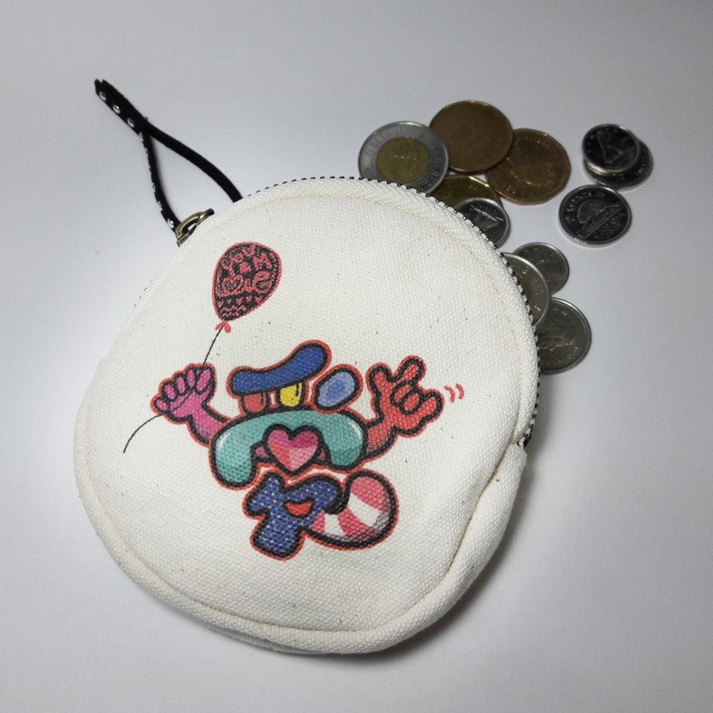 Rock Love   Canvas Coin Bag Coin Wallet