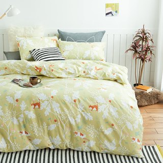 Gold oak single bed single bed / bed bag hand-painted cat 40 cotton bed pillowcase quilt cover optional