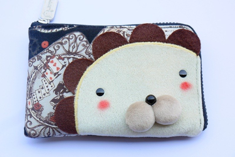 Bucute Alice lion wallet / birthday gift choice / travel abroad / exchange gifts / handmade /