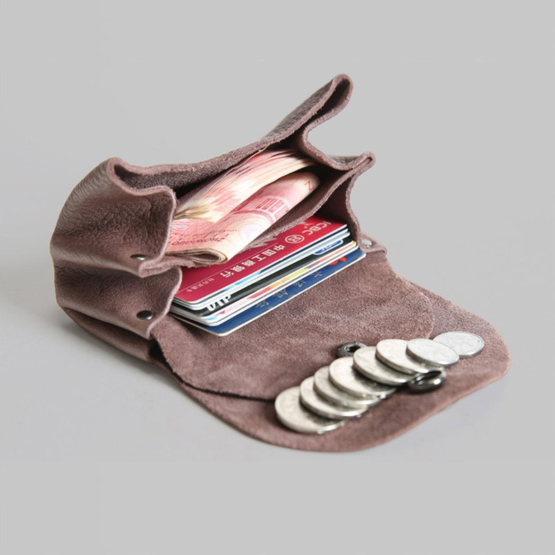 Real leather coin purse card holder business card holder storage bag