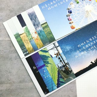 10 handwritten postcards