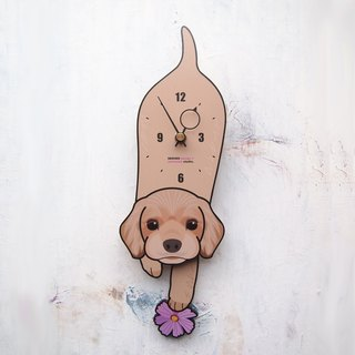 D-19 American Cocker Spaniel - Pet's pendulum clock