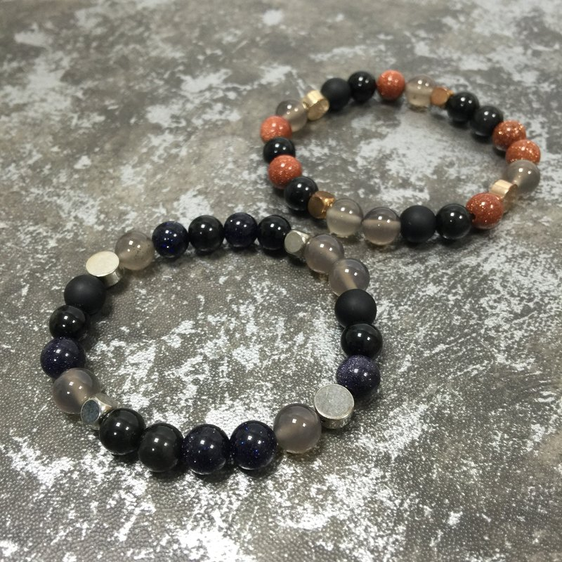 [Eyat] Natural Stone Beads Bracelet Sands Sandstone Customized Bracelet Silver Copper
