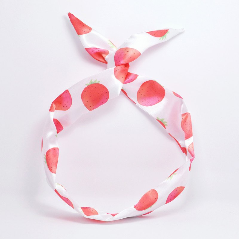 Ben Shou original handmade strawberry rabbit ear hair band