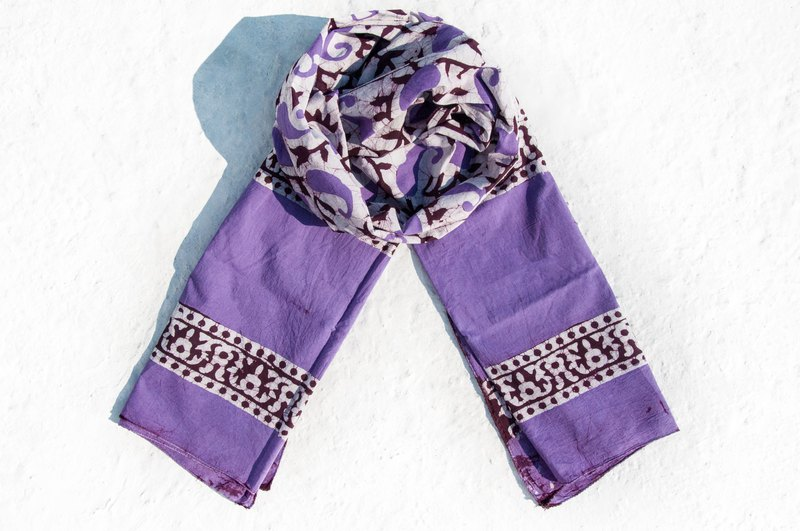 Plant dyed silk scarves / batik dyed silk scarves / grass dyed scarves / handmade tie dyed pure silk scarves - violet
