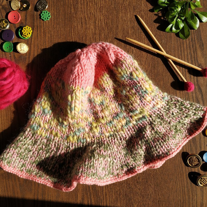 Pure wool big brim hat sun hat wool hat-balcony afternoon tea