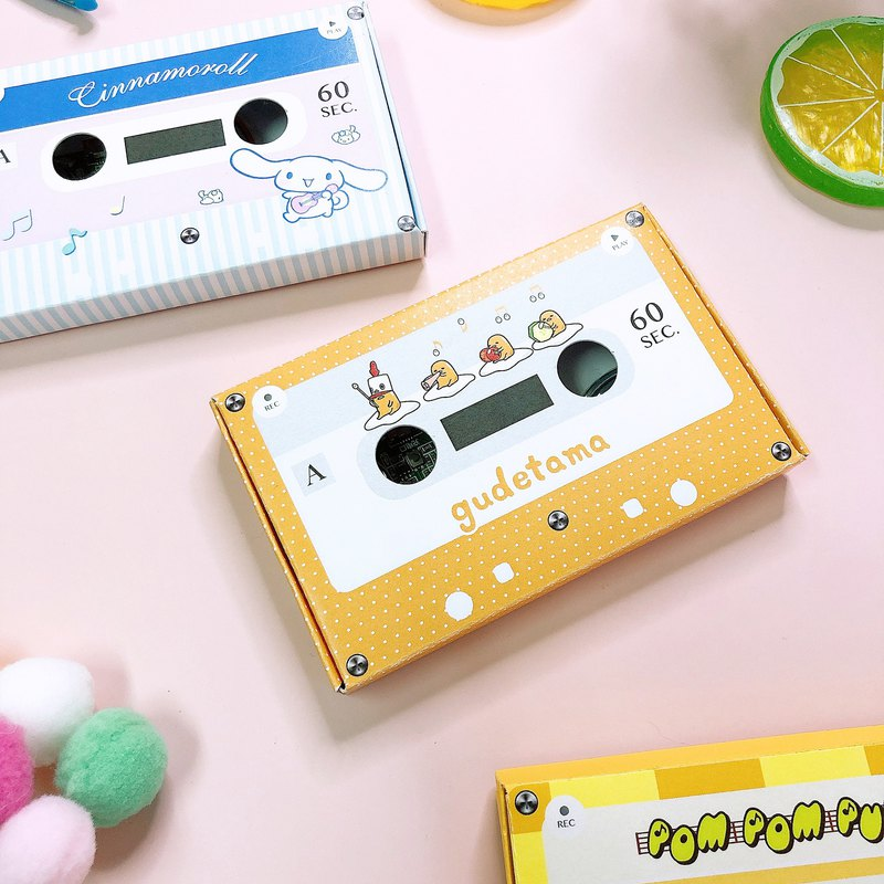 Egg yolk / big-eared dog / pudding dog audio cassette manual card sanrio genuine exclusive license