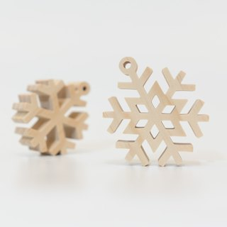 wagaZOO thick cut modeling building blocks natural series - snowflakes