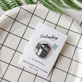 Littdlework embroidery badge - camera film