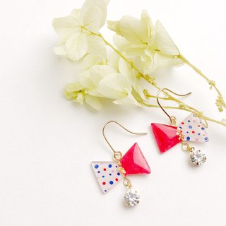 Lovely Ribbon Earrings Red Series