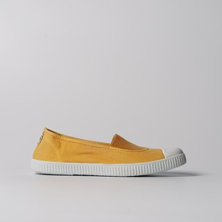 Spanish national canvas shoes CIENTA adult size washed old mustard yellow fragrant shoes 75777 64