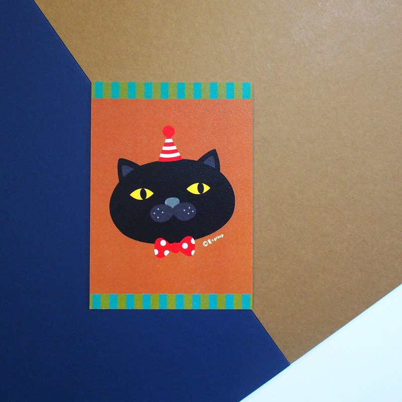 E*group Black Chocolate Chocolate Matcha Postcard Cat