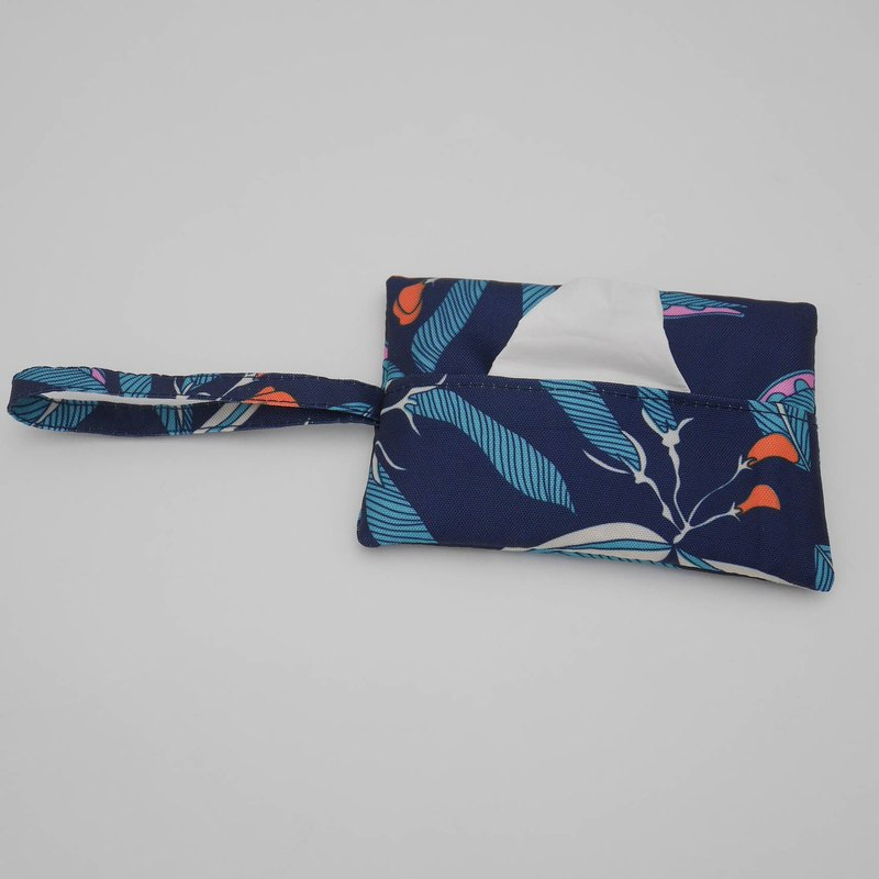 Dark blue printed pocket paper cover - waterproof