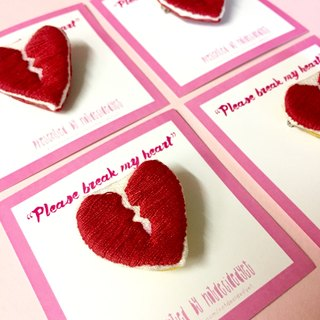 Fragile | Broken Heart Pin