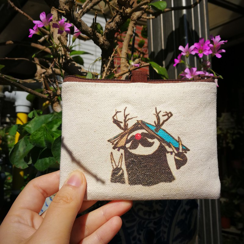 Sloth double-layer coin purse ticket card holder clip - a hundred years of tree people's century-old sloth