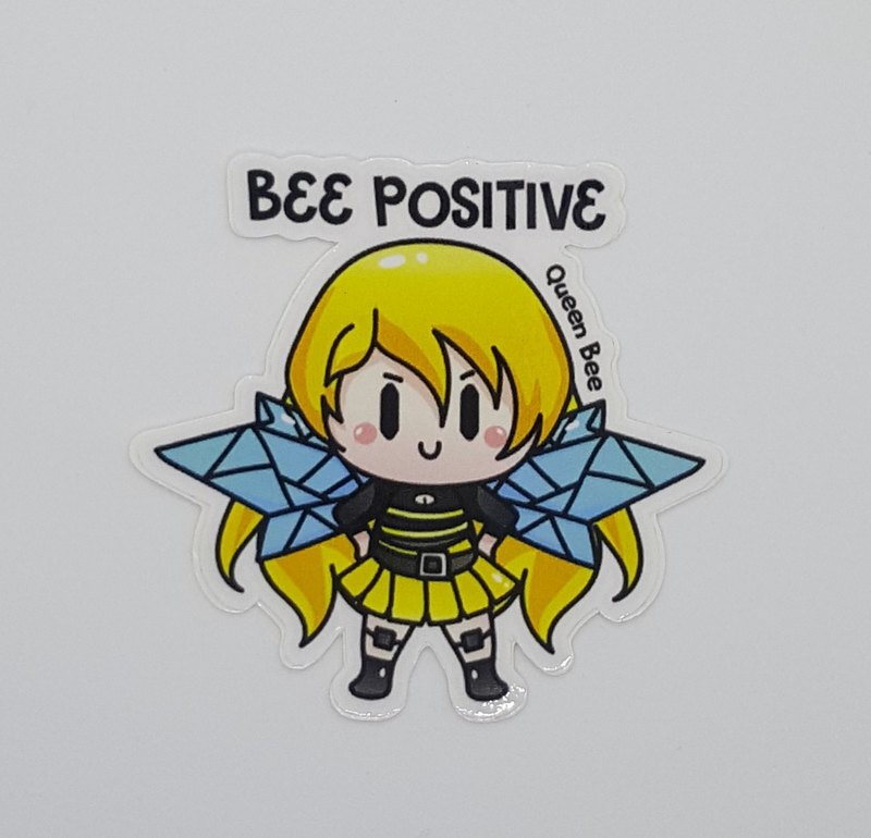 "Queen Bee ""BEE POSITIVE"" anime Sticker"