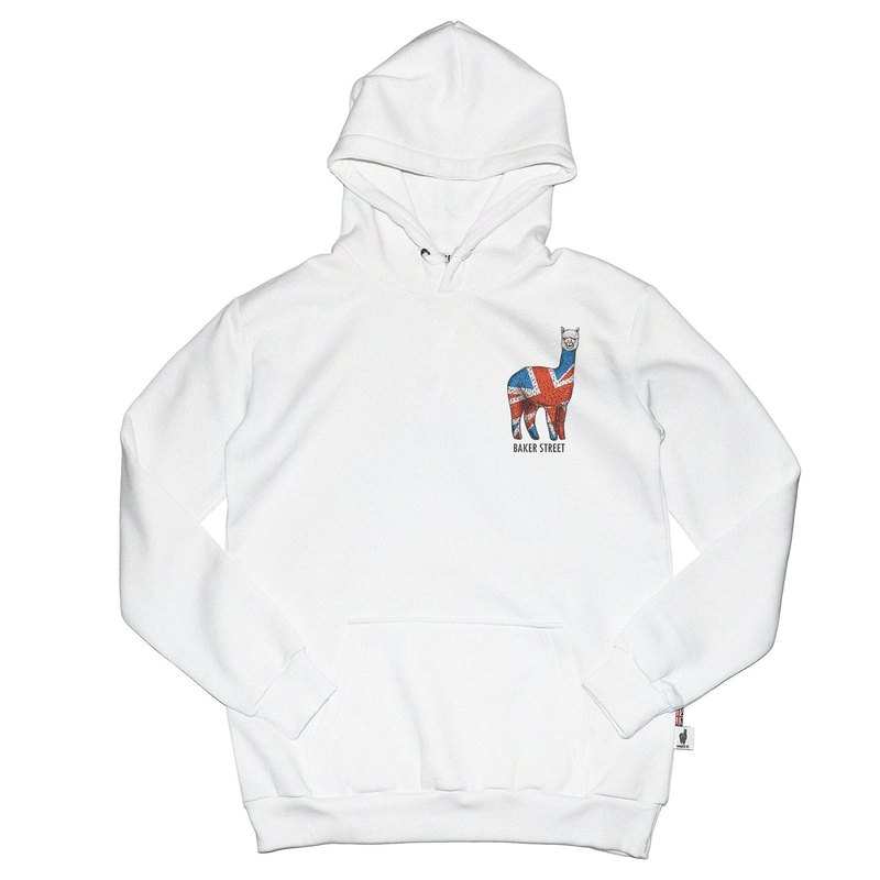 British Fashion Brand -Baker Street- British Alpaca Printed Hoodie