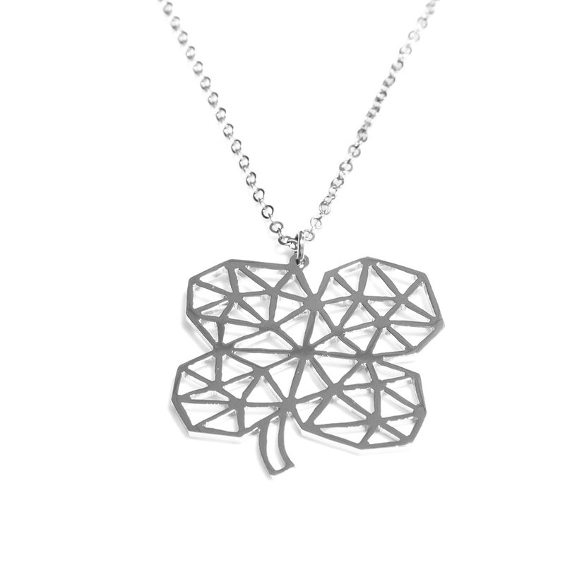Abstract polygon lucky clover shape pendant