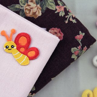 Feifei small butterfly self-adhesive embroidered cloth stickers - Forest Series