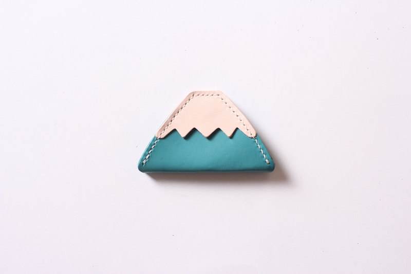 Mount Fuji coin purse leather wedding small things together with old age [free custom lettering 1-7 words]