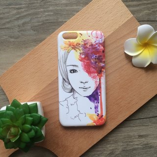 Romance Modern Girl with Red Flower illustration. Matte Case (iPhone, HTC, Samsung, Sony)