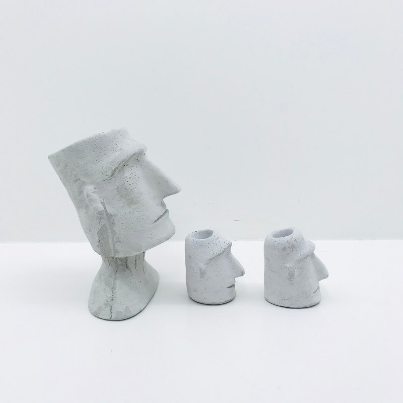 Cement Moai Set)))) Christmas Exchange Gifts