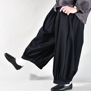 Autumn and winter lanterns adjustable nine pants black