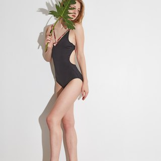 Try swimwear sexy back one piece in black