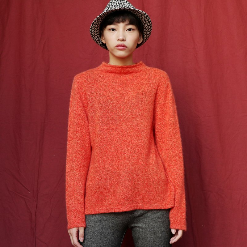 Pumpkin Vintage. Ancient Orange Cashmere Cashmere Pullover