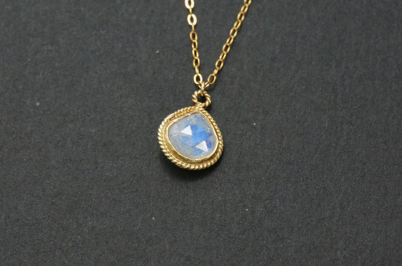Natural Moonstone ムーンストーン Moonstone USA 14K Gold Necklace Light Jewelry