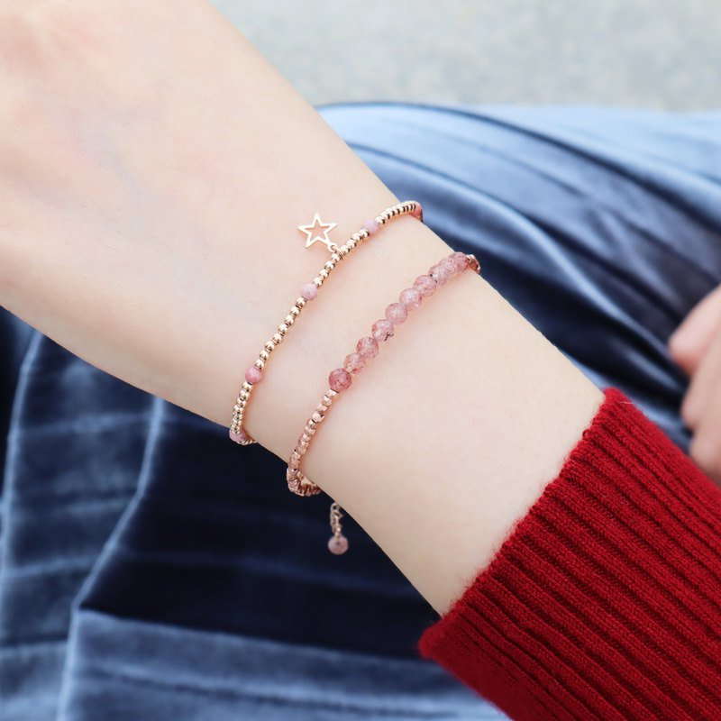 • STARLIGHT• Red Stone Star Silver Bracelet