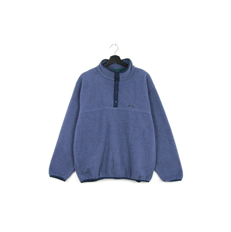 Back to Green :: LLBean Fleece Top Grey Blue // vintage