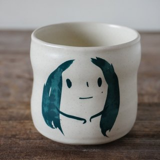 Brut Cake Handmade pottery - smiling mug (not to) 260ml-5