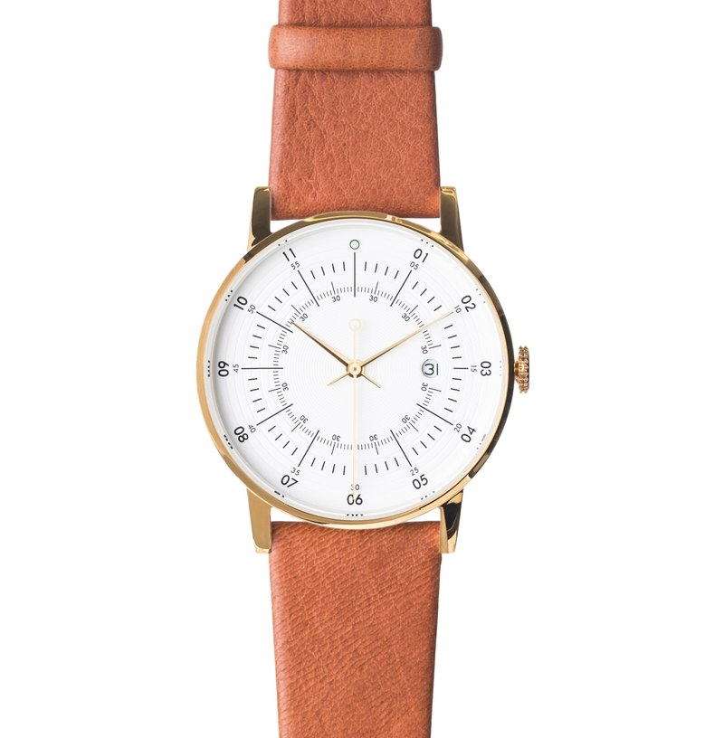 Scandinavian design watch with Arctic reindeer leather strap SQ38 Plano PS-33