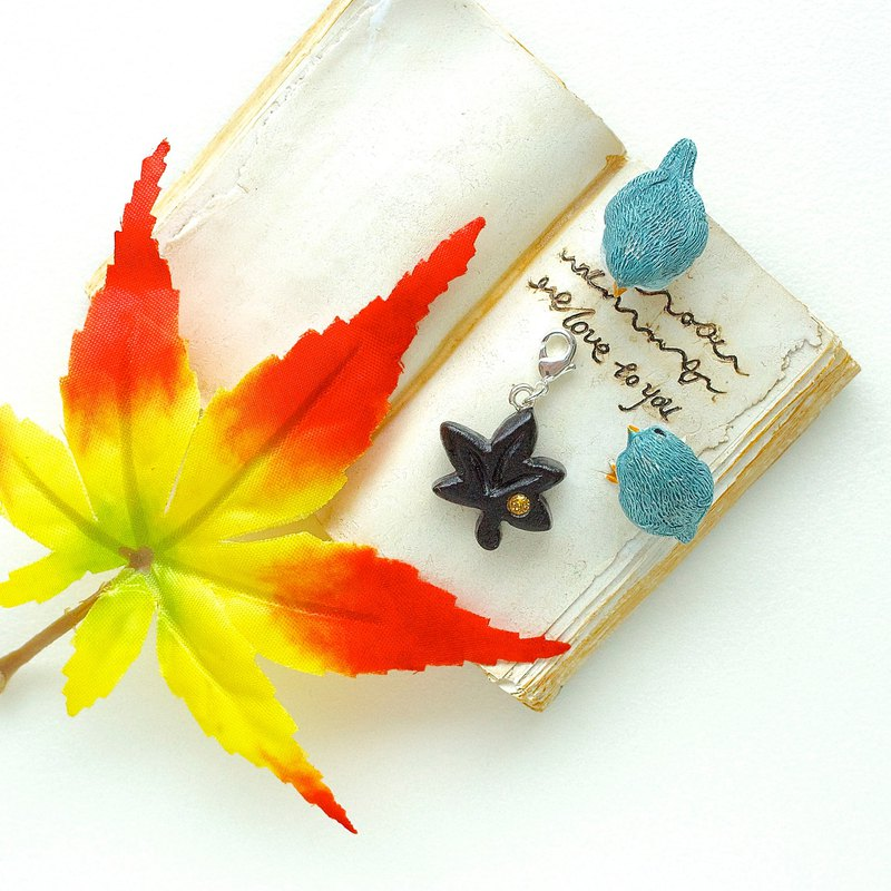 Maple Leaf wooden charm