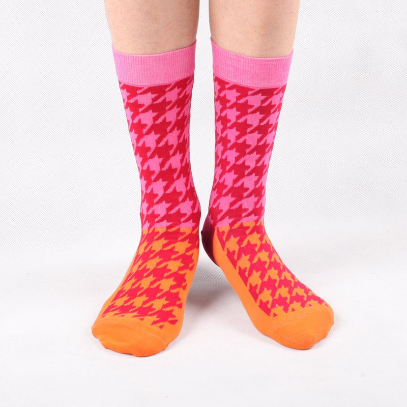 Men socks-Essential Collection-Houndstooth Double